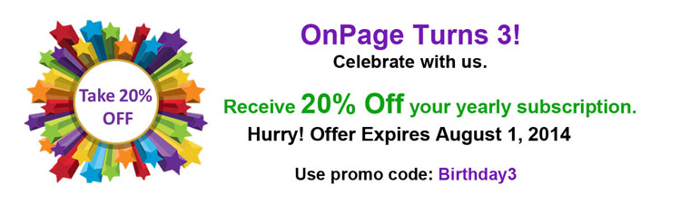 OnPage turns 3 august 1 225