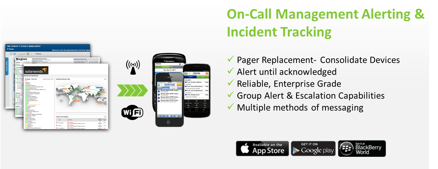 OnPage On-call management alerting and incident tracking