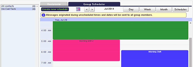 OnPage - Group Scheduler