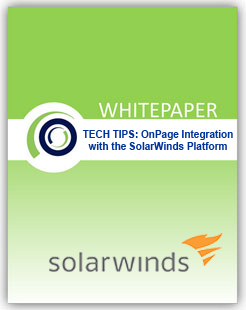 OnPage Priority Messaging / SolarWinds WHITEPAPER