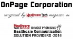 OnPage Named 10 Most Promising Healthcare Communication Solution Providers 2016